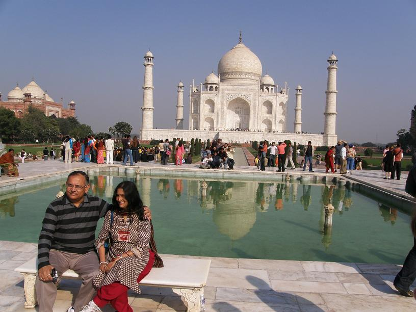 the Diana Bench, Taj Mahal, Agra