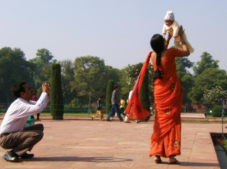 one for the family album, Taj Mahal, Agra