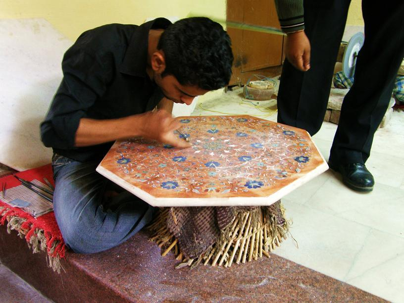 inlay marble, Agra