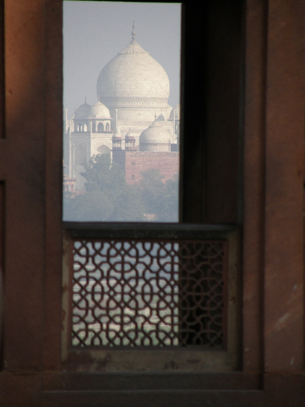 Taj Mahal, view from Agra Fort
