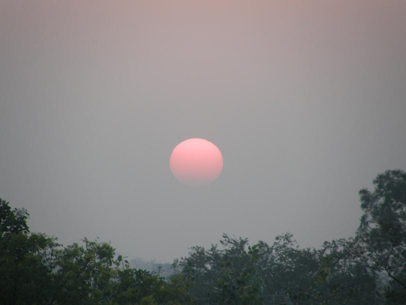 sunset, Agra
